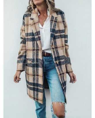 Friends Classic Plaid Monica's Same Paragraph Coat