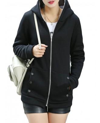 Plus Velvet Padded Warm Hoodies Sweatershirt