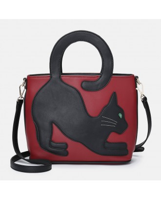 Women Cat Pattern Handbag Crossbody Bag