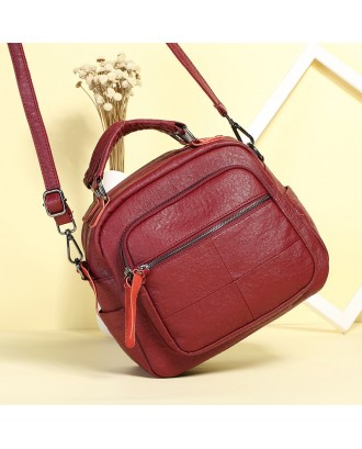 Vintage PU Leather Handbag Shoulder Bags Crossbody Bag For Women