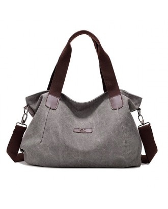Women Canvas Large Capacity Shoulder Bags Handbags Casual Crossbody Bags