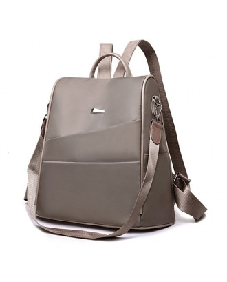 Women Anti-theft Backpack Oxford Solid Multi-function Shoulder Bag