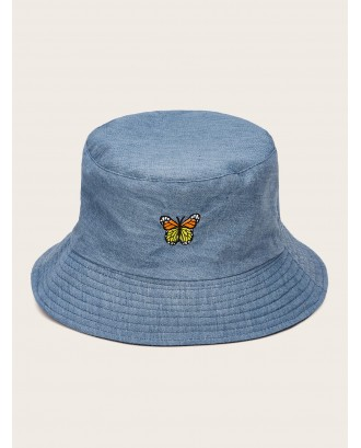 Butterfly Embroidery Bucket Hat