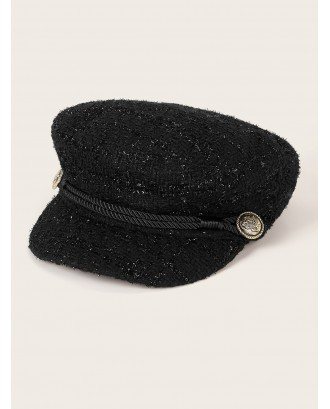Coin & Band Decor Bakerboy Hat