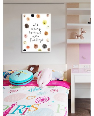 Cute Expression & Slogan Wall Print Without Frame