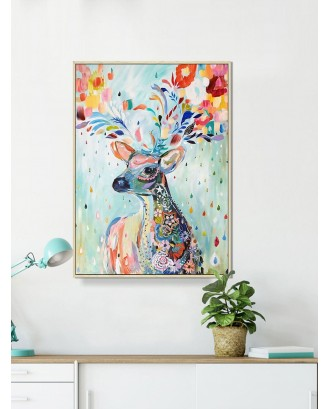 Colorful Elk Wall Art Print Without Frame